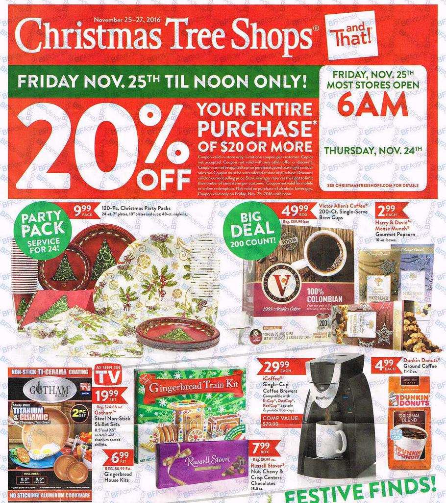 Christmas Tree Shops Black Friday 2017 Ads, Deals and Sales